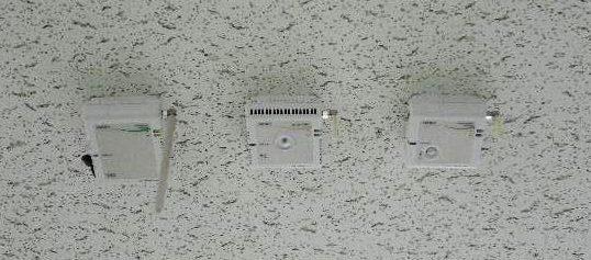 写真1:CO2・温湿度照度・人感センサー