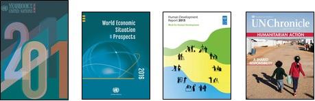 UN iLibraryの代表的なタイトルの表紙イメージ