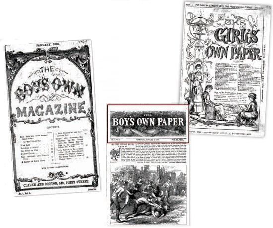 19世紀英国の少年・少女向け雑誌