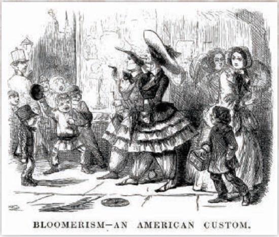 ブルマーの流行を諷刺