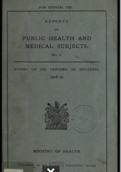 Report on the Pandemic of Influenza, 1918-19