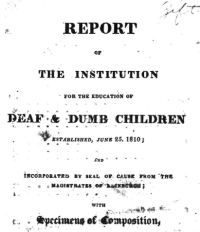 Report of the Institution for the Education of Deaf & Dumb Children