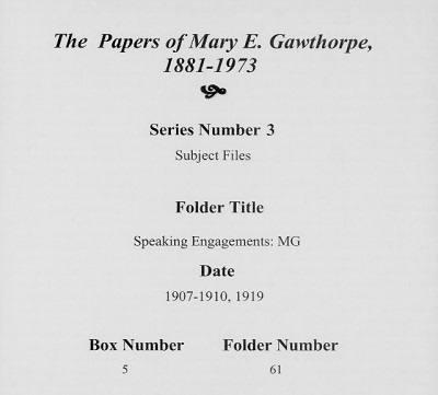 Mary Gawthorpe