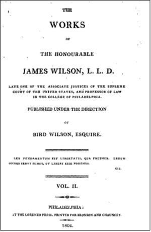 ジェイムズ・ウィルソン『著作集』