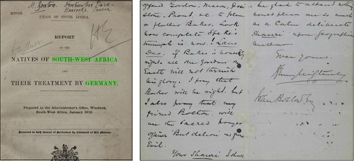 植民地アフリカに関する書簡・日記・回想録1
