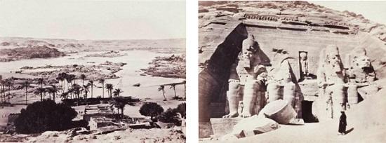 1850年代のナイル川河岸とエジプト遺跡群