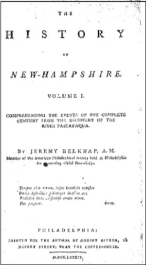 ニューハンプシャーの歴史