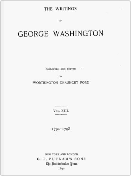 ジョージ・ワシントン『著作集』