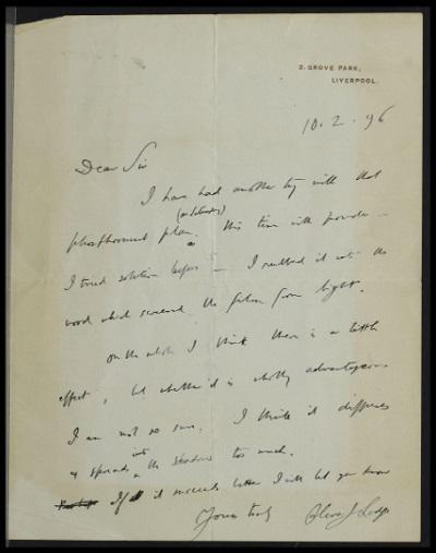 Autograph letters