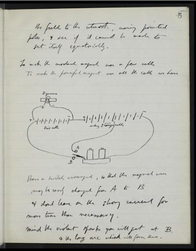 Autograph manuscript notebook