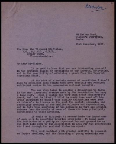Files of correspondence