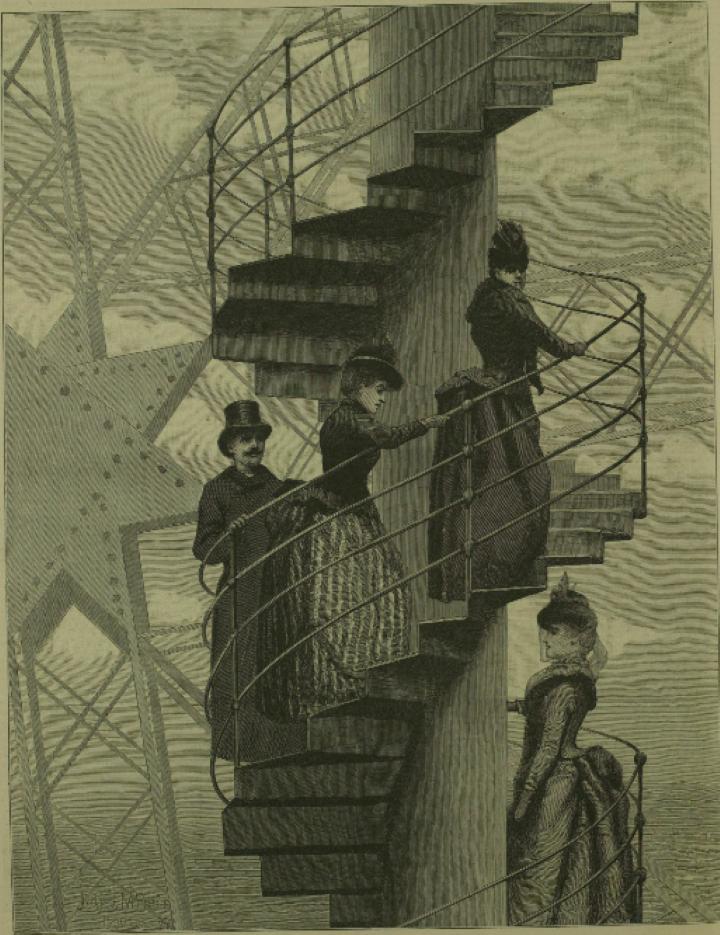 1889 年のパリ万博の代名詞となったエッフェル塔。