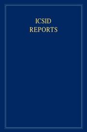 Cambridge University PressのICSID Reports