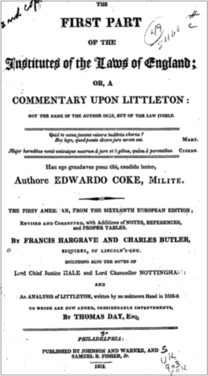 イギリス-近世・近代法学者著作・法律書