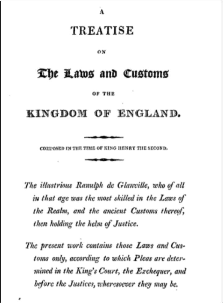 イギリス-中世法学者著作・法律書