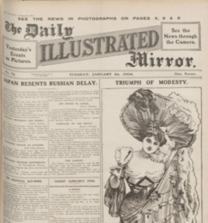 1904 写真を多用した新聞に編集方針を軌道修正1