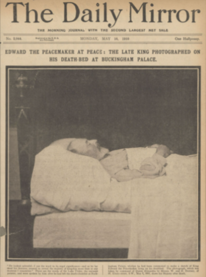 1910 エドワード7世死去