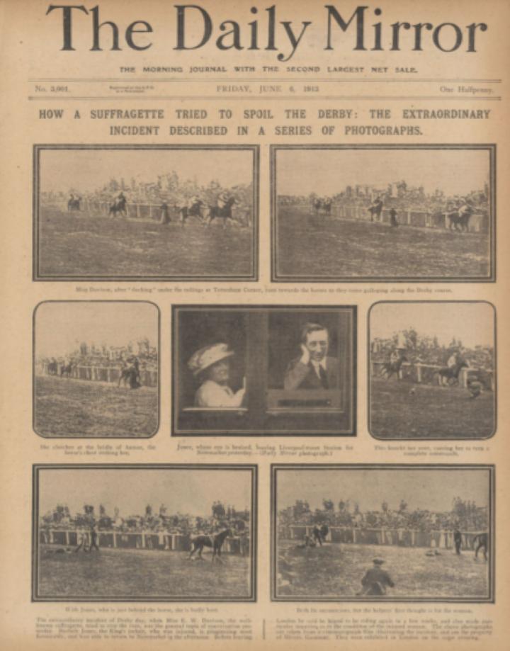 1914 サフラジェットのエミリー・デイヴィソン死去1