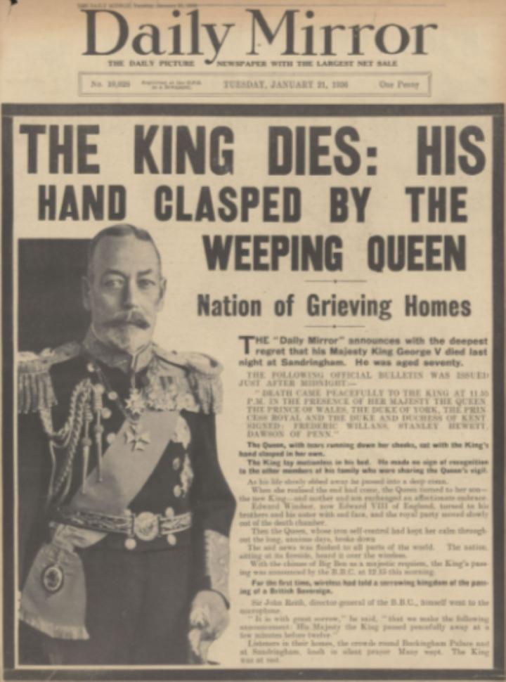 1936 ジョージ5世死去