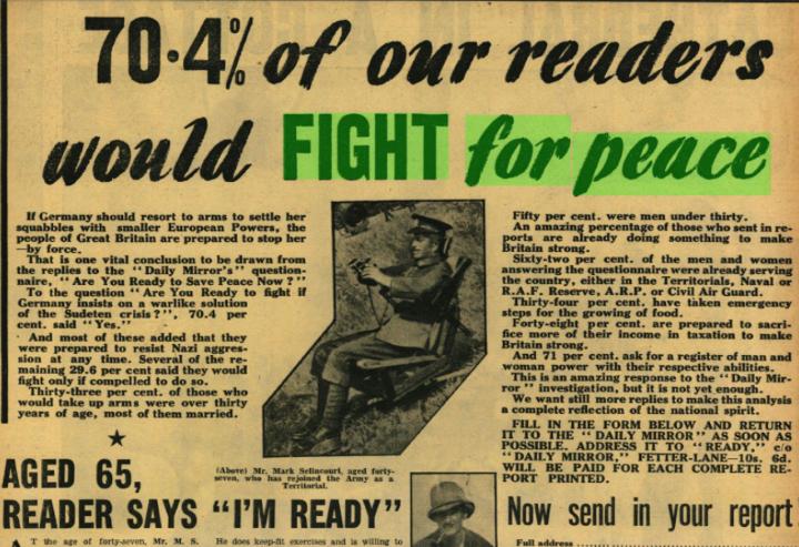 1938 対独宥和政策