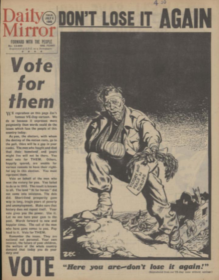 1945 総選挙で労働党勝利3