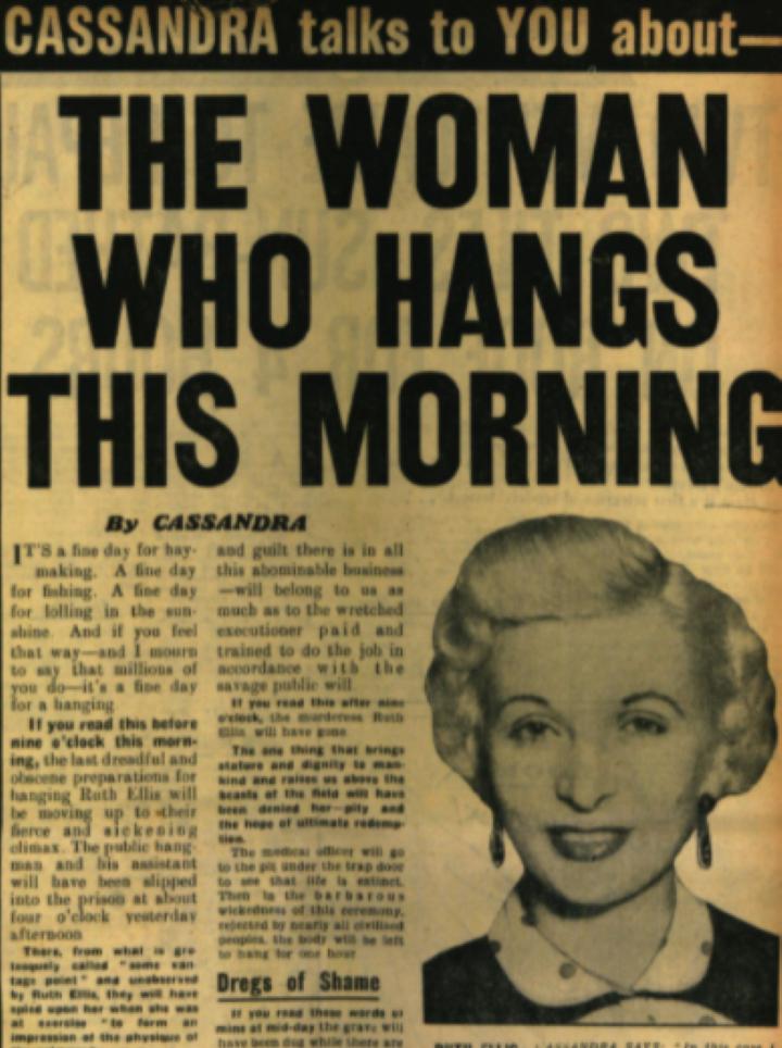 1955 殺人犯のルース・エリスに死刑執行