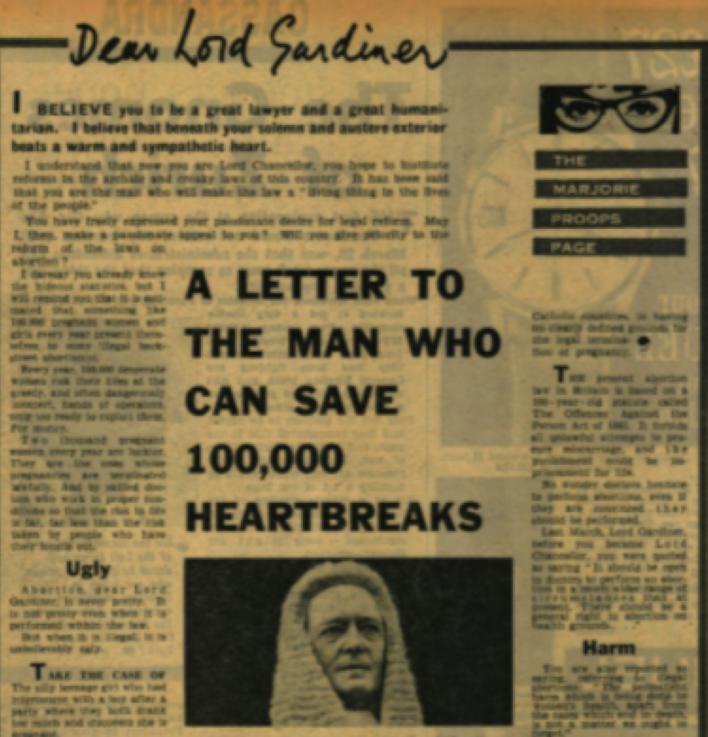 1967 妊娠中絶法制定