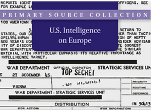 U.S. Intelligence on Europe