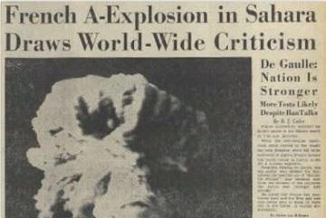 フランス初の核実験