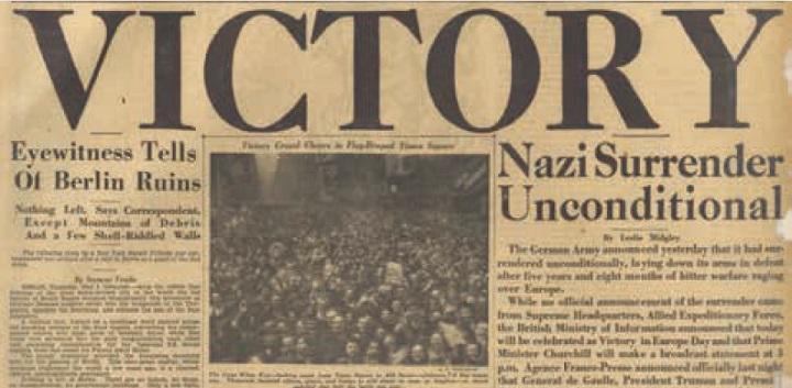ナチスドイツ無条件降伏