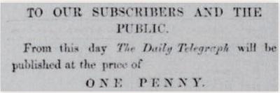 ペニー新聞の誕生