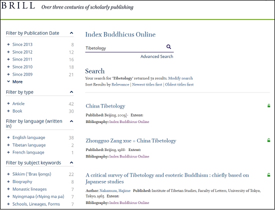 Index Buddhicus Search Result 2