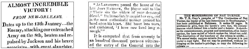 Nineteenth Century U.S. Newspapers 1-3
