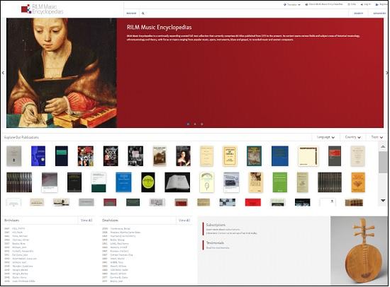 RILM Music Encyclopedias_TOP